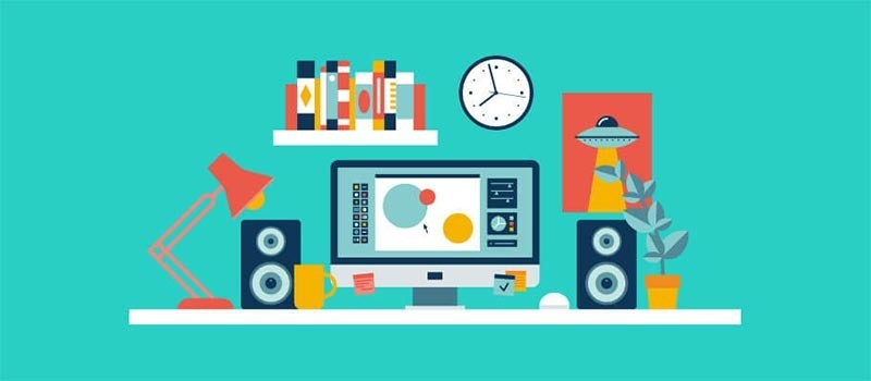 The sort of home office set up you need to make money at home.