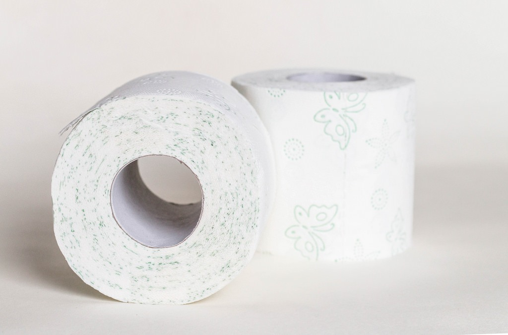 You can save money by getting cash back on toilet rolls like the ones pictured here but don't try and turn one roll into two.