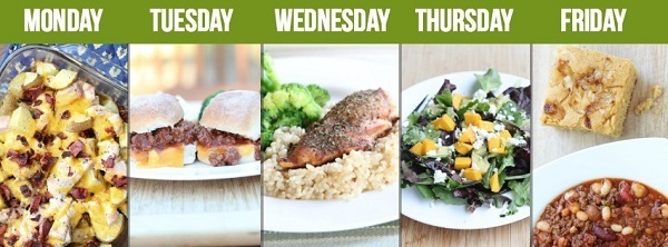 This is a selection of meals as you might get with a typical week on the $5 meal plan. It's really tasty and can save you a small fortune.
