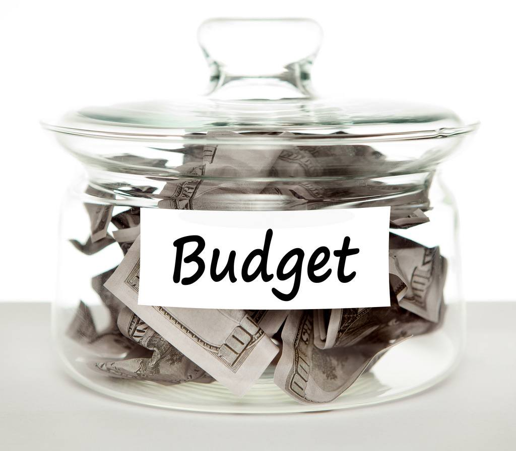 A pot with the word budget written on the front of it. Budgeting is an important financial management skill.