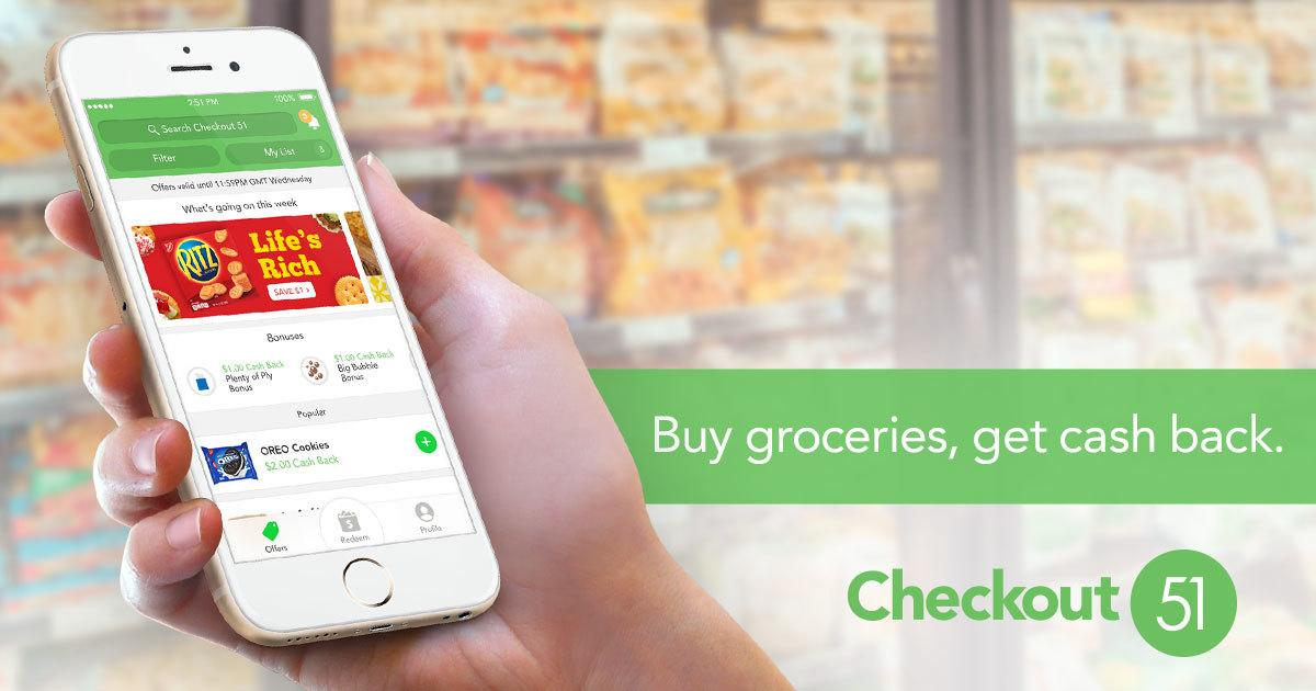 A picture of the checkout 51 app in use saving someone money by giving cashback