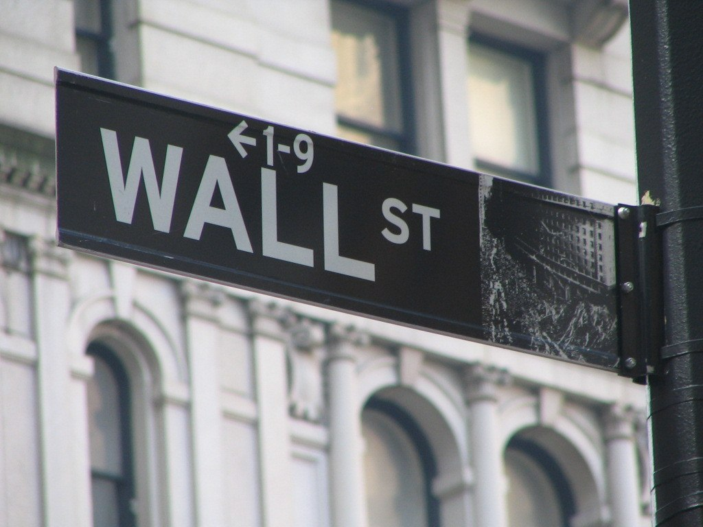 A sign for Wall Street where the nation's top financial institutions can be found. People who work in them often don't have a personal budget.