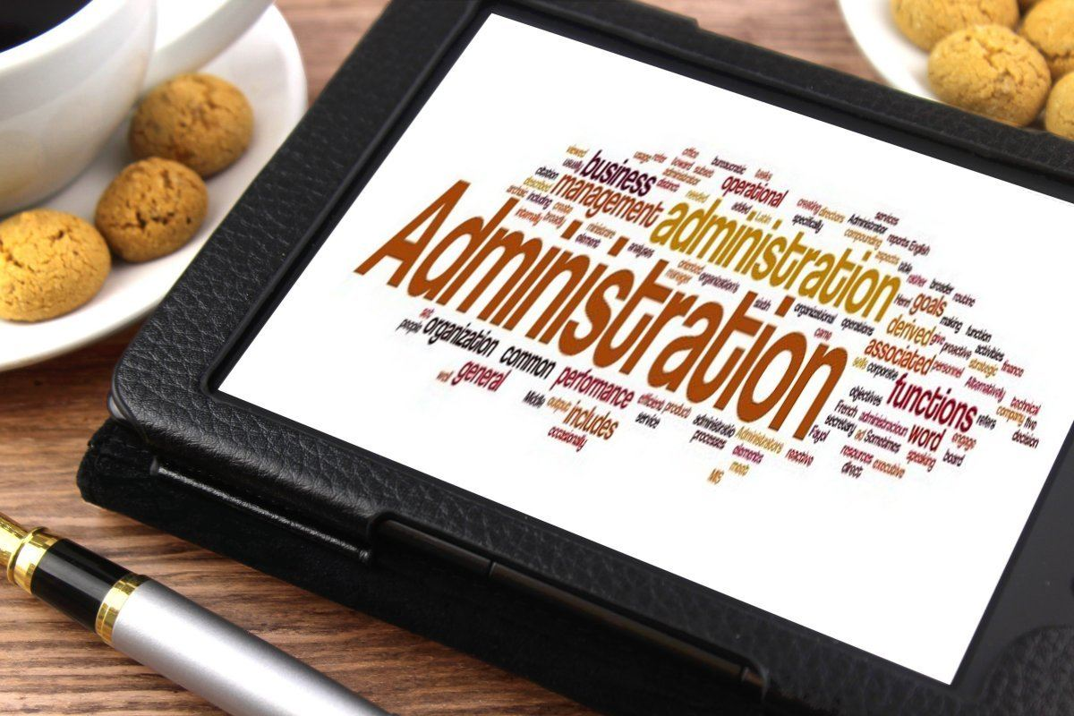 """A caption saying """"administration"""", the earlier you automate your admin, the easier it is to focus on earning cash."""
