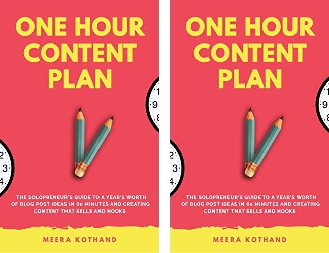 Book Cover for The One Hour Content Plan by Meera Kothand