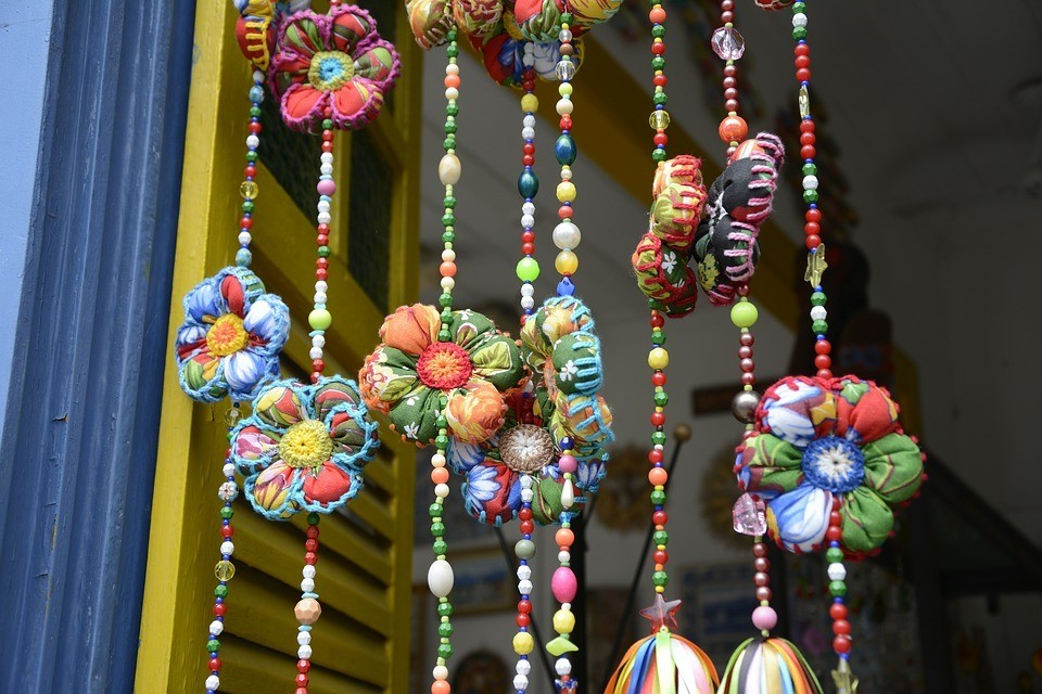 Here's a picture of some handicrafts which can always be sold for real money on sites like Etsy.com