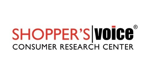 The logo of the site Shopper's Voice which offers ways to save money and to get paid for completing surveys.