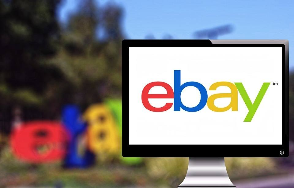 """An image of a screen with """"ebay"""" written on it. Using ebay is a proven way to earn extra cash fast."""