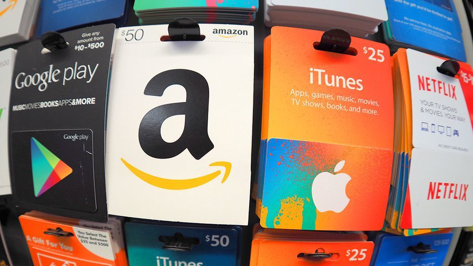 Lots of different gift cards, like the ones you can get for doing things on Swagbucks.